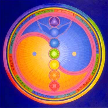 Chakras and Balance. Painting by Barry Stevens